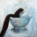 Kvinna i badet
